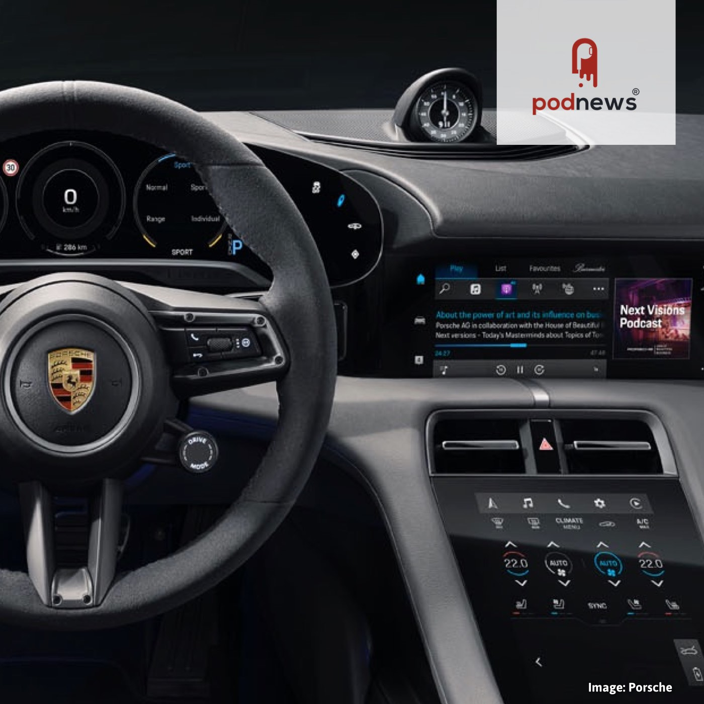 This Porsche comes with Apple Podcasts
