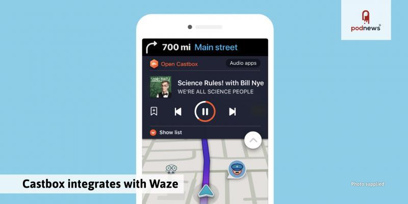 Castbox integrates with Waze