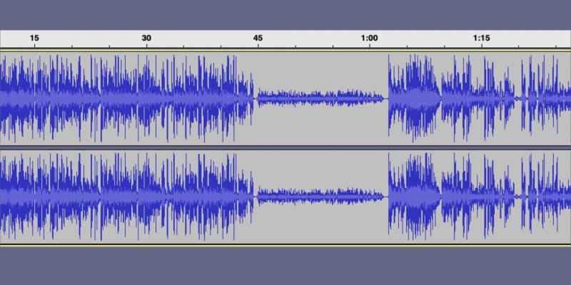 A waveform with a really quiet bit in the middle